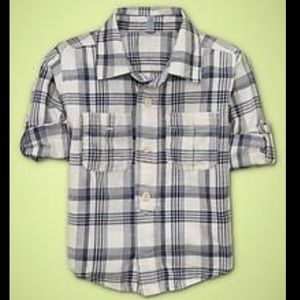 Baby Gap roll sleeve button up